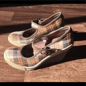 Rocket Dog Plaid Wedge Mary Jane